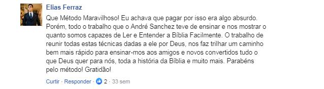 Depoimento Método Como Ler a Bíblia